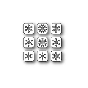 Poppy Stamps Stanzschablone - Snowflake Tabs