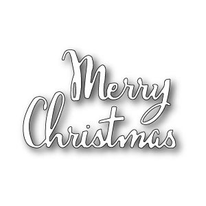 Poppy Stamps Stanzschablone - Merry Christmas Script
