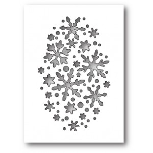Poppy Stamps Stanzschablone - Snowflake Oval Collage