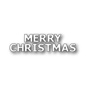 Poppy Stamps Stanzschablone - Merry Christmas Lettering