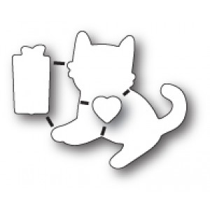 Poppy Stamps Stanzschablonen-Set - Kitty Cat Gift