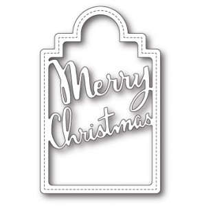 Poppy Stamps Stanzschablone - Merry Christmas Tag