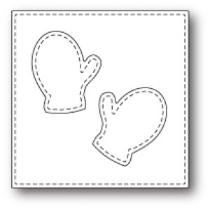 Poppy Stamps Stanzschablone - Stitched Mitten Square