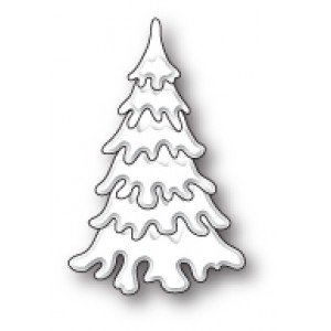 Poppy Stamps Stanzschablone - Small Fluffy Snow Tree