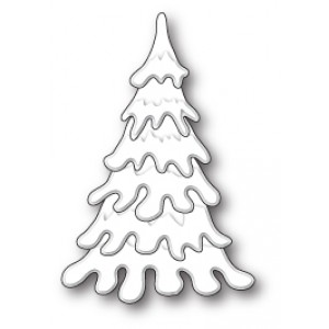 Poppy Stamps Stanzschablone - Tall Fluffy Snow Tree