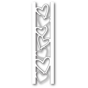 Poppy Stamps Stanzschablone - Vertical Hearts Channel