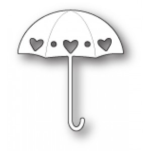 Poppy Stamps Stanzschablone - Heart Showers Umbrella