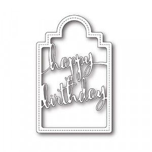 Poppy Stamps Stanzschablone - Happy Birthday Tag