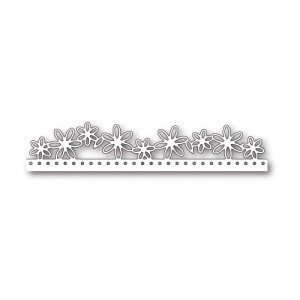 Poppy Stamps Stanzschablone - Floral Dotted Border
