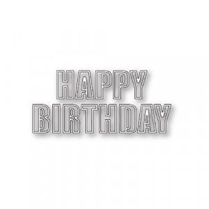 Poppy Stamps Stanzschablone - Happy Birthday Bold Outline