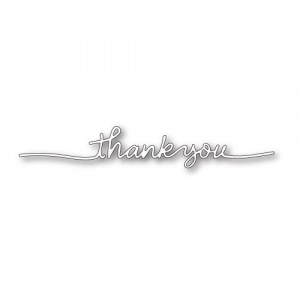 Poppy Stamps Stanzschablone - Thank You Streamer