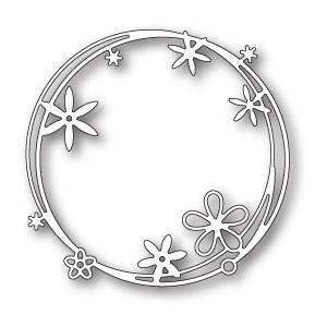 Poppy Stamps Stanzschablone - Scribble Flower Circle