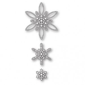 Poppy Stamps Stanzschablone - Celeste Snowflakes