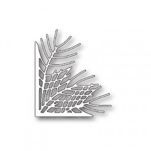 Poppy Stamps Stanzschablone - Wispy Pine Needle Corner