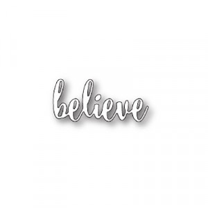 Poppy Stamps Stanzschablone - Believe Loose Script