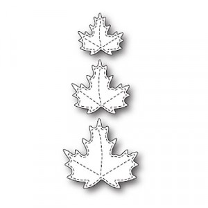 Poppy Stamps Stanzschablone - Stitched Maple Trio