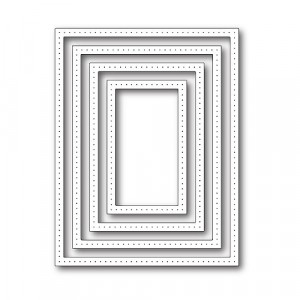 Poppy Stamps Stanzschablone - Pointed Rectangle Frames