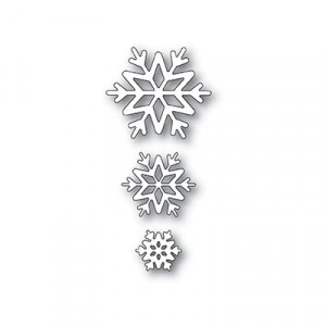 Poppy Stamps Stanzschablone - Shiny Snowflakes
