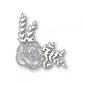 Poppy Stamps Stanzschablone - Country Rose Corner
