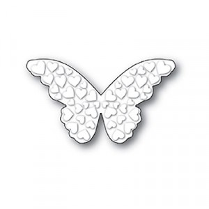 Poppy Stamps Stanzschablone - Embossed Heart Butterfly