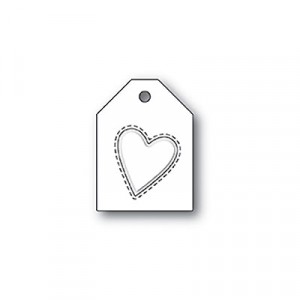 Poppy Stamps Stanzschablone - Embossed Heart Taglet