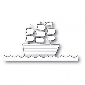 Poppy Stamps Stanzschablone - Tall Ship