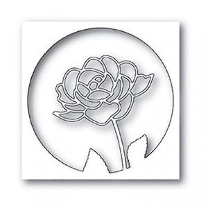 Poppy Stamps Stanzschablone - Rose Stem Collage