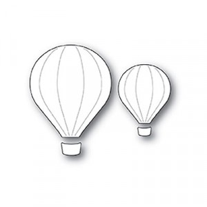 Poppy Stamps Stanzschablone - Hot Air Balloons