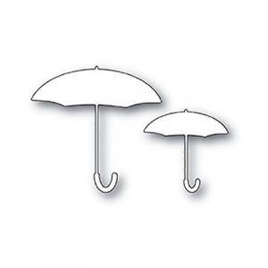 Poppy Stamps Stanzschablone - Umbrella Duo