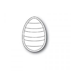Poppy Stamps Stanzschablone - Striped Egg
