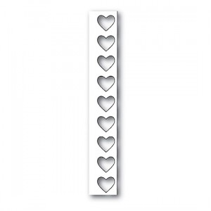 Poppy Stamps Stanzschablone - Big Heart Border Layer