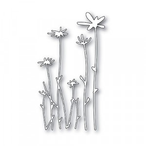 Poppy Stamps Stanzschablone - Tall Sketch Daisies