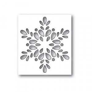 Poppy Stamps Stanzschablone - Seed Snowflake Collage