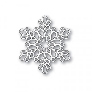 Poppy Stamps Stanzschablone - Seed Snowflake Outline