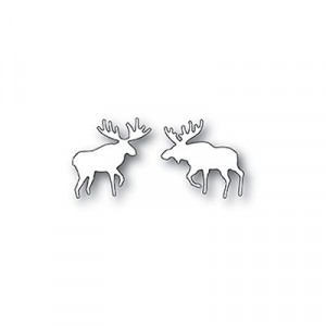 Poppy Stamps Stanzschablone - Wilderness Moose Duo