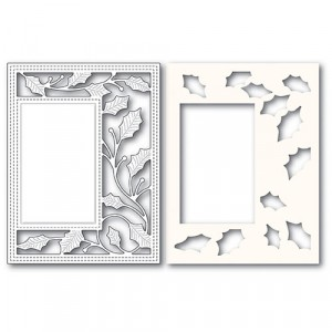 Poppy Stamps Stanzschablone + Stencil - Holly Vine Sidekick Frame