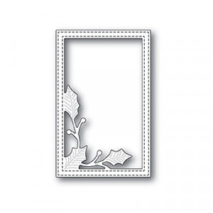 Poppy Stamps Stanzschablone - Simple Holly Vine Frame