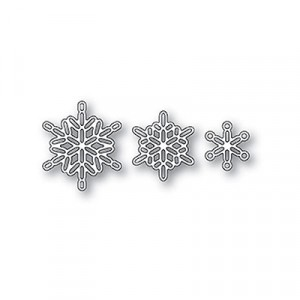 Poppy Stamps Stanzschablone - Linked Snowflake Trio