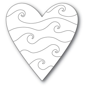 Poppy Stamps Stanzschablone - Wavy Heart