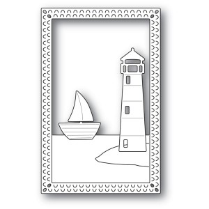 Poppy Stamps Stanzschablone - Lighthouse Frame