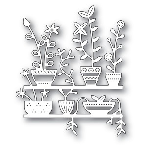 Poppy Stamps Stanzschablone - Spring Pots Shelves