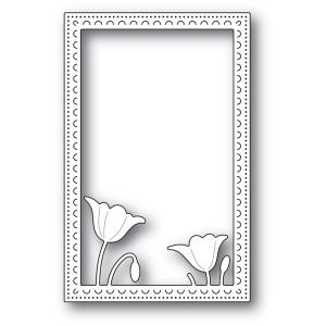 Poppy Stamps Stanzschablone - Garden Poppy Stitched Frame - 25% RABATT