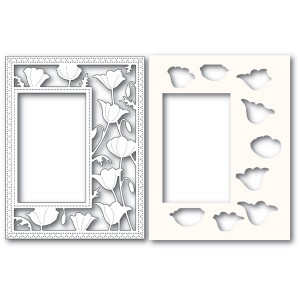 Poppy Stamps Stanzschablone - Garden Poppy Sidekick Frame and Stencil