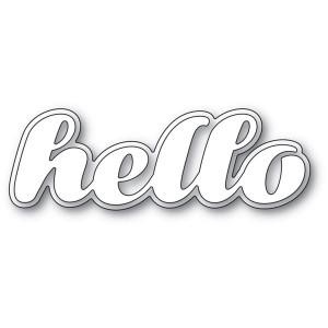 Poppy Stamps Stanzschablone - Luscious Script Hello