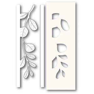 Poppy Stamps Stanzschablone - Mistletoe Side Strips and Stencil