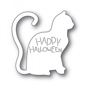 Poppy Stamps Stanzschablone - Happy Halloween Cat