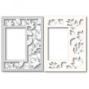 Poppy Stamps Stanzschablone - Autumn Leaves Sidekick Frame and Stencil 2