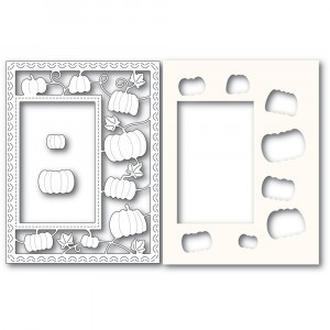 Poppy Stamps Stanzschablone - Pumpkin Patch Sidekick Frame and Stencil