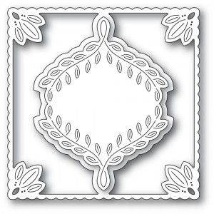 Poppy Stamps Stanzschablone - Leafy Ornament Frame