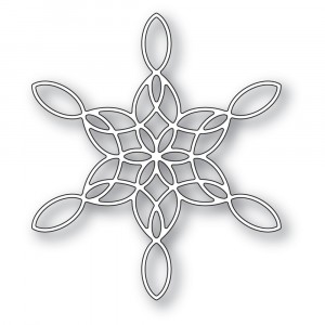 Poppy Stamps Stanzschablone - Stained Glass Snowflake  - 20% RABATT